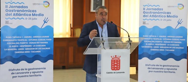 El Cabildo, a través de Saborea Lanzarote, presenta las II Jornadas Gastronómicas del Atlántico Medio
